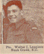 Photo of Walter James Lapointe– Submitted for the project, Operation: Picture Me