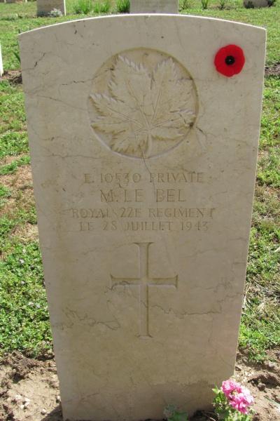 Grave Marker– Grave marker - Agira Canadian War Cemetery - 2013