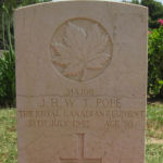Grave Marker– Gravesite of Maj JHW Pope The RCR
