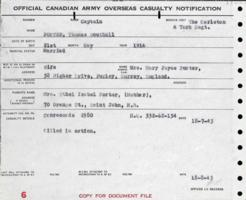 Casualty Notification Form– Submitted for the project, Operation Picture Me