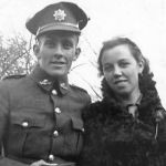 Photo of Claude Bellsmith– This is a photo of Claude and his bride, Mildred, just after their wedding.