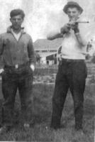 Photo of William Allen Benjamin– Arthur and Bill  Benjamin (with rifle). Submitted for the project, Operation Picture Me