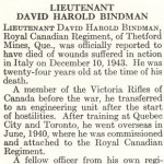 Obituary– David Bindman is honoured on page 8 of the memorial book,