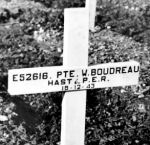 Grave Marker– This is Wilfred Boudreau's Grave at the Moro River Canadian War Cemetery.