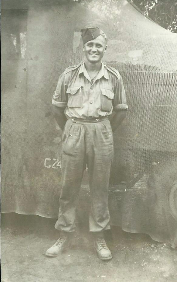 Photo of Floyd Bowers– while in service, somewhere in Italy.  (no further information is provided with the photo)