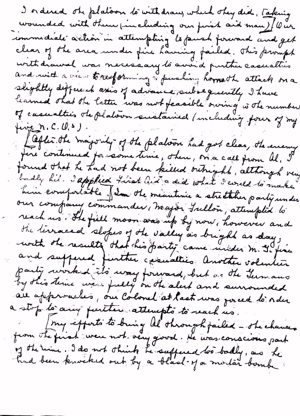 Page 2 of letter to Mrs. Bunnage