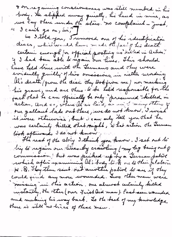 Page 3 of letter to Mrs. Bunnage