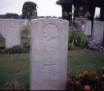 Grave marker for E.A. Cameron