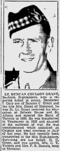 Obituary– Obituary - DUNCAN COULSON GRANT