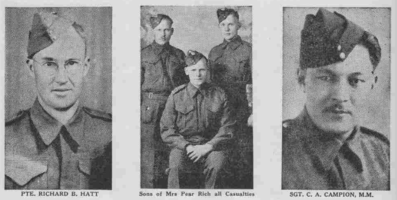 Photo of RICHARD BOYCE HATT– From the Loyal Edmonton Regimental magazine the Fortyniner.  Submitted for the project, Operation Picture Me