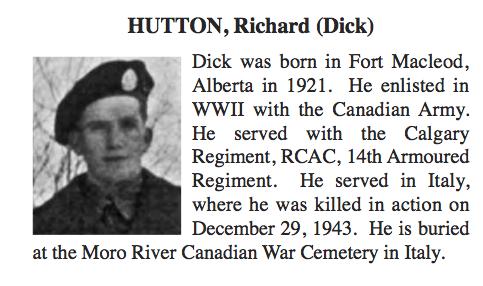 Obituary– Obituary - RICHARD HUTTON