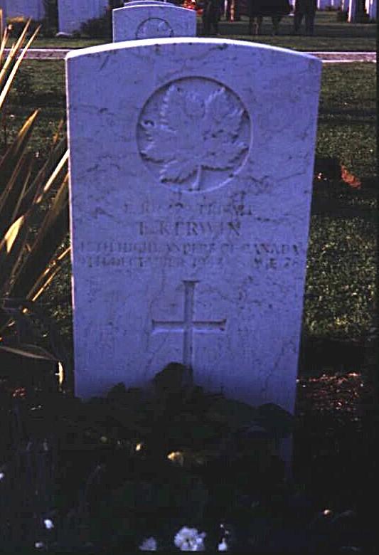 Headstone of Ernest Kerwin