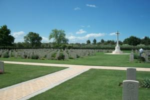 Cross of Sacrifice– Moro River Canadian War Cemetery - May 2013 … Photo courtesy of Marg Liessens