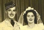 Wedding Photo– 1942 marriage - Albert & Dorothy (Wilson) Lauwereys