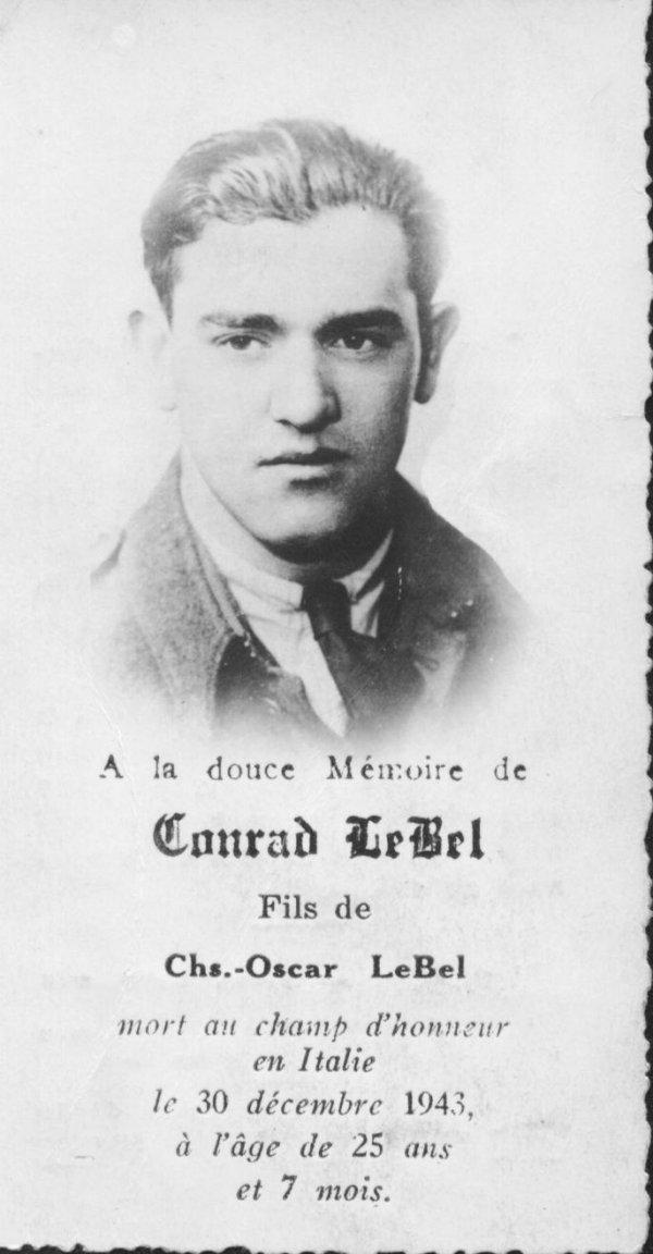 In Memory of Conrad Lebel