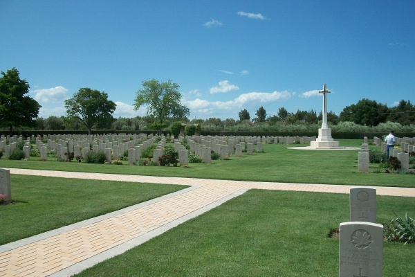 Cemetery– Moro River Canadian War Cemetery - May 2013 … Photo courtesy of Marg Liessens