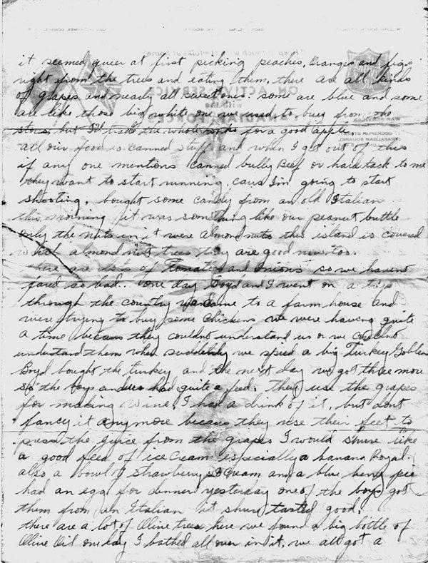 Letter (Reverse - August 22, 1943)
