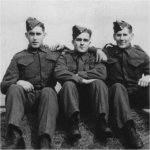 Charles and Friends– Charles with buddies Alvin Wagner, Annapolis Valley, N.S. and Carl Bowlby, Middleton, N.S..