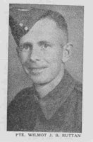 Photo of WILMOT BENNET RUTTAN– From the Loyal Edmonton Regimental magazine the Fortyniner.  Submitted for the project, Operation Picture Me