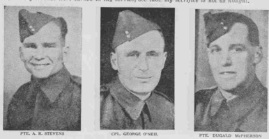 Photo of AMOS RICHARD STEVENS– From the Loyal Edmonton Regimental magazine the Fortyniner.  Submitted for the project, Operation Picture Me