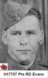 Photo of ROBERT DANIEL EVANS– In memory of those who served in Hong Kong during World War 11 and did not come home. Submitted with permission on behalf of the Hong Kong Veterans Commemorative Association by Operation: Picture Me.