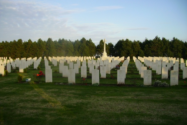 Cemetery– Calais Canadian War Cemetery … photo courtesy of Marg Liessens