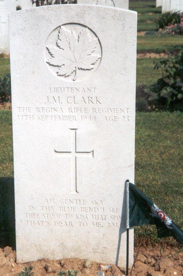 Grave marker for James Murray Clark