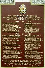 Plaque– James Murray Clark is honoured on the Toronto Star Staff Honour Roll, a plaque that honours the former staff members who were died on active service during World War I and II.  The plaque is located at 1 Yonge Street, Toronto, Ontario.