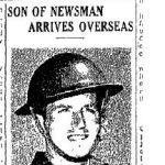 """Newspaper Clipping– Toronto Star """"Pages of the Past"""" online 1943, Aug. 13 p 3"""