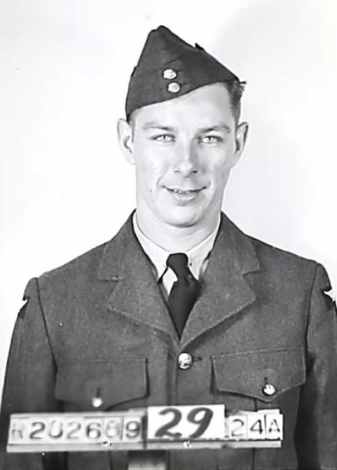 Photo of WESLEY NEIL MCARTHUR– Pictured here in his RCAF uniform. Submitted for the project Operation Picture Me