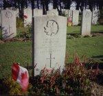 Grave marker for J.M. Mahar