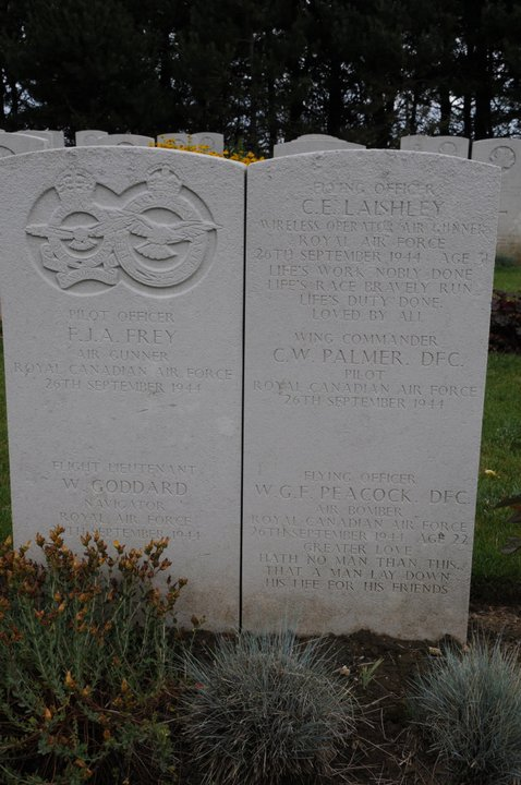 Grave Marker– Head stone of members of the plane