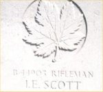Gravemarker– This photo of Rfn Scott's gravemarker was taken by Padre Craig Cameron of The QOR of C in june 1997.