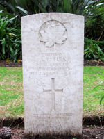 Grave Marker– The grave marker of A.R. Tulk in the Commonwealth War Cemetery in Rome, Italy.