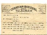 Telegram– Telegram Received by my Grandfather of Glennies Death.