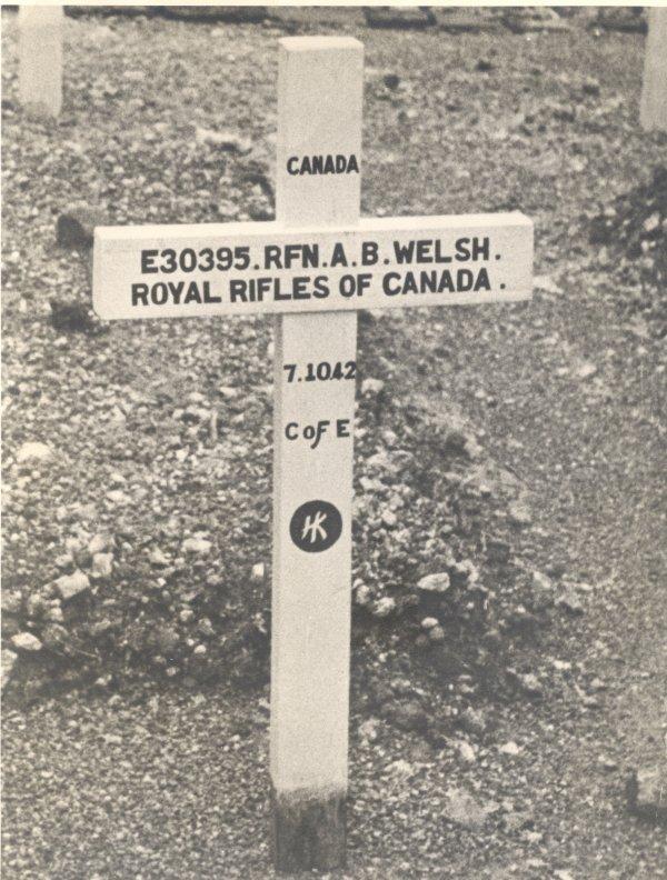 Pierre tombale originale de Allen Welsh