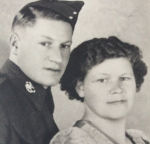 Group Photo– This is a pic of my great uncle Arsene and his sister Lydia.  She was my grandmother