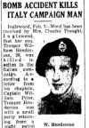 Newspaper Clipping– The Toronto Star February 7, 1945,
