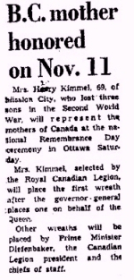 Newspaper clipping– Newspaper clipping from the Lanley Advance.