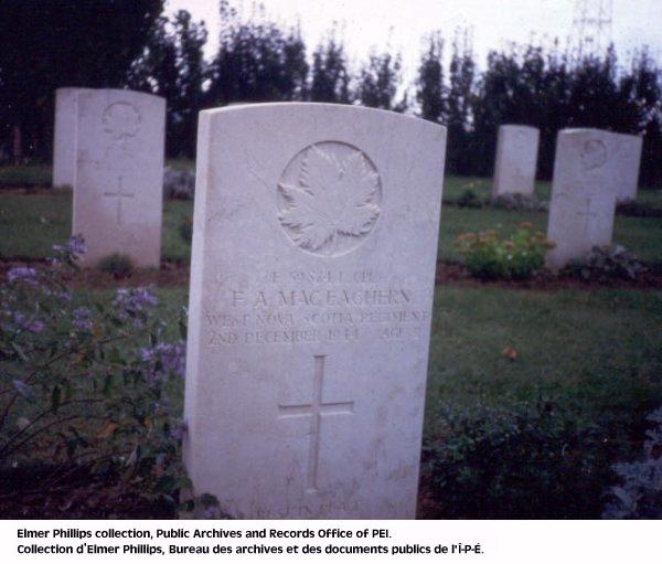 Grave marker for F.A. MacEachern