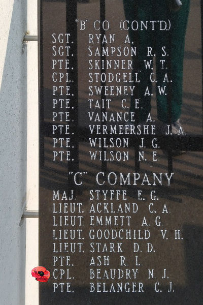 Memorial– Corporal Henry John Beaudry is also commemorated on the Lake Superior Regiment (Motor) Memorial located in Hillcrest Park, Thunder Bay, ON … May 2018 ... photo courtesy of Marg Liessens