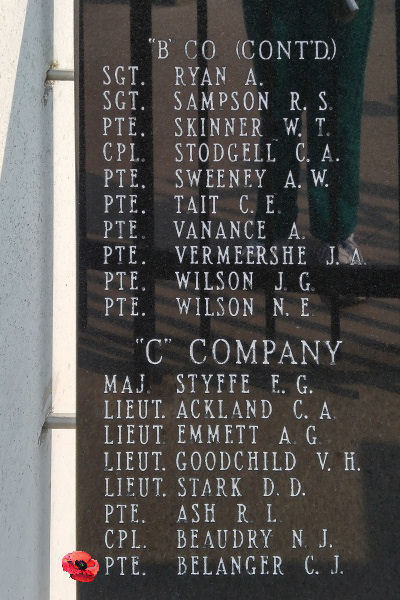 Memorial– Private Charles Joseph Belanger is also commemorated on the Lake Superior Regiment (Motor) Memorial located in Hillcrest Park, Thunder Bay, ON … May 2018 ... photo courtesy of Marg Liessens