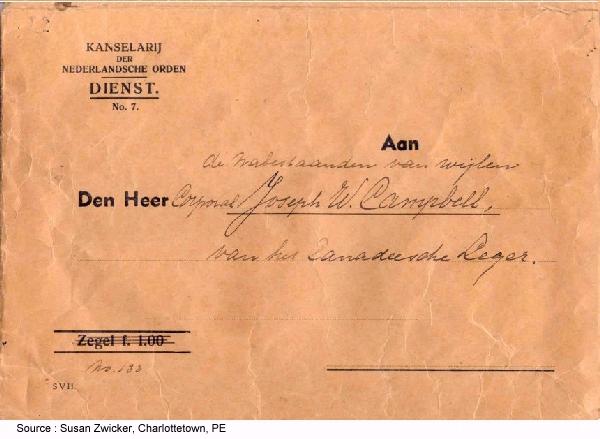 Envelope fron the Netherlands