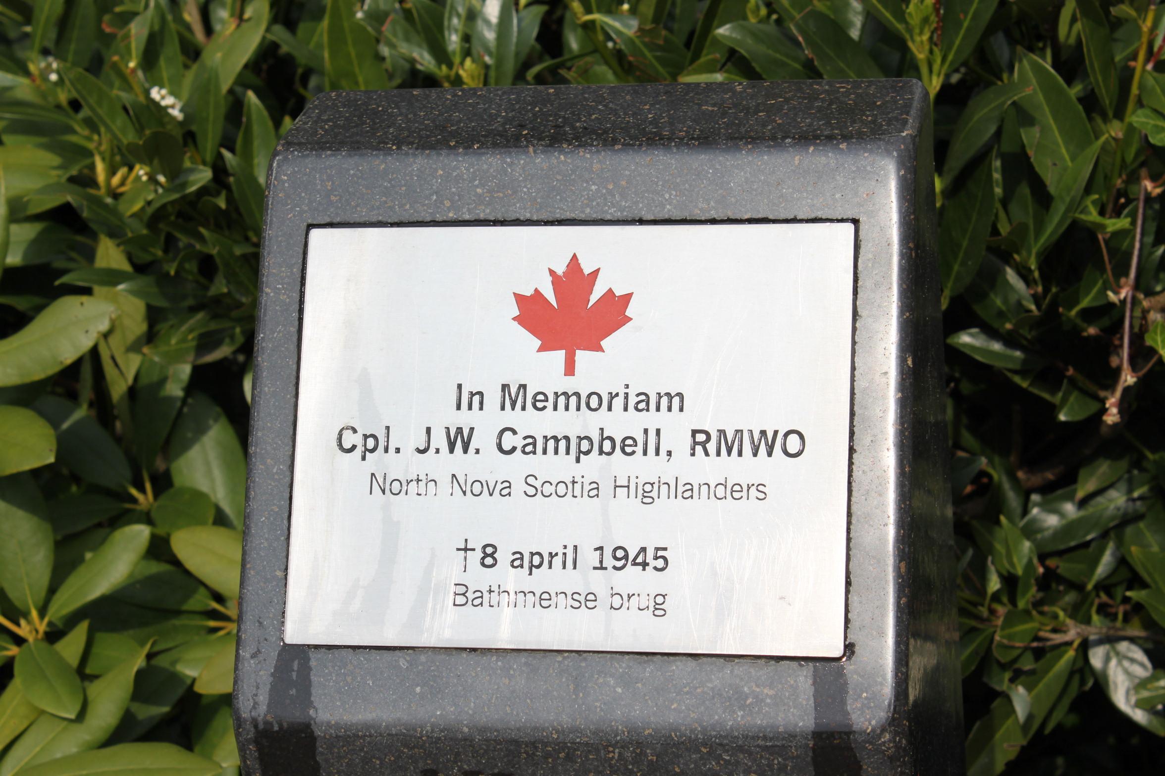 Memorial Plaque– Netherlands