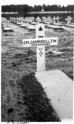 Last Post– This photograph along with a letter was sent to the family to show the location of Joseph's final resting place. The wooden cross was used as a temporary marker until the permanent Headstone is placed.