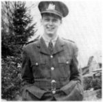 Photo of Charles Cox– Charles Cox was born on September 15, 1919, son of Mr. And Mrs Harold C. Cox of 1291 York Street, and husband of Gladys Cox, Stratford. He enlisted in