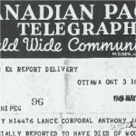 Telegraph dated 1945 MAY 3