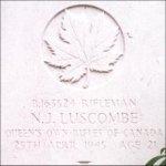 Grave Marker– This photo of Rfn Luscombe's gravemarker was taken in June 2003.