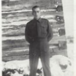 Photo of William McCooeye– in uniform at his home.