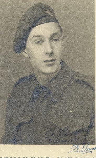 Allan McMillian– Picture sent to Sister  Margaret and her husband,Bruce  Feb 1944.